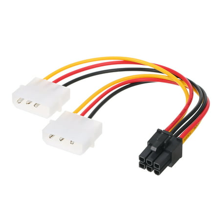 4p to 6p Power Cable Graphics Video Card 4 Pin Molex to 6 Pin PCI-Express PCIE Power Supply Cable