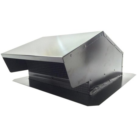 Builder's Best 12634 Metal Roof Vent Cap, Black (Best Roof Ventilation System)
