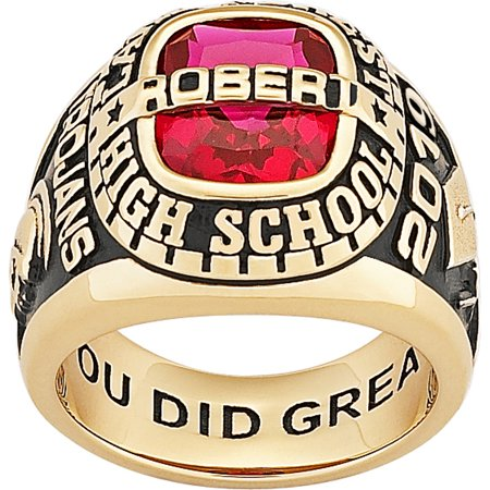 Graduation Jewelry - Personalized Men's 14kt gold plated Celebrium Personalized-Top Class Ring