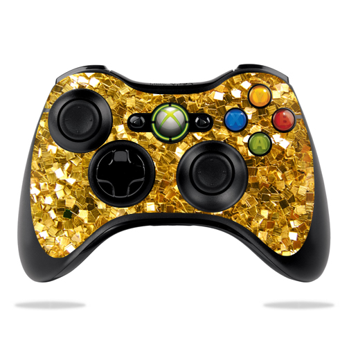 MightySkins Protective Vinyl Skin Decal for Microsoft Xbox 360 Controller Case wrap cover sticker skins Gold Chips