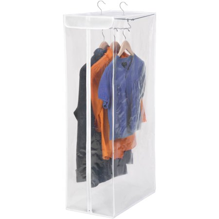 Honey Can Do Hanging Short Garment Bag, White/Clear ()