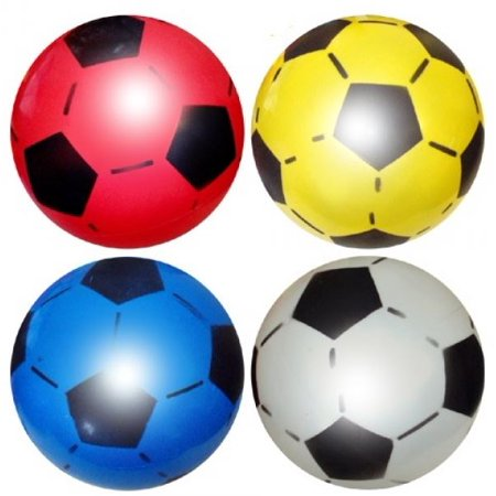 1 x Plastic Inflatable Football 22.5cm Uninflated Outdoor Indoor Beach Game (Inflatable Football Field)