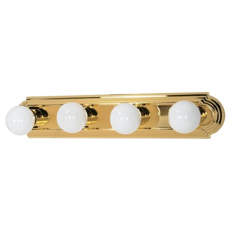 Brass Vanity Fixture (Nuvo Lighting  60/309  Bathroom Fixtures  Indoor Lighting  Vanity Strip  ;Polished Brass)