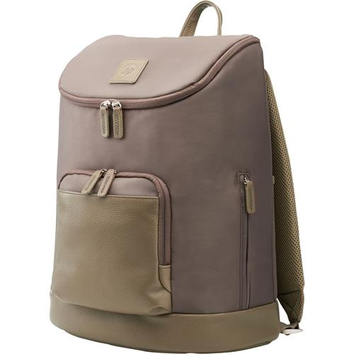 "HP Women's Backpack for 15.6"" Notebook Tan T0E31AA#ABL"