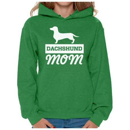 Awkward Styles Women's Dachshund Mom Dog Lover Graphic Hoodie Tops Dachsie