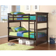Coaster Twin-Over-Twin Bunk Bed, Cappuccino