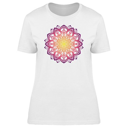 Sunset Floral Summer Mandala Tee Women's -Image by Shutterstock