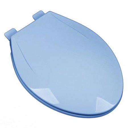 Slow Close Plastic Elongated Contemporary Design Toilet Seat, Regency Blue ()
