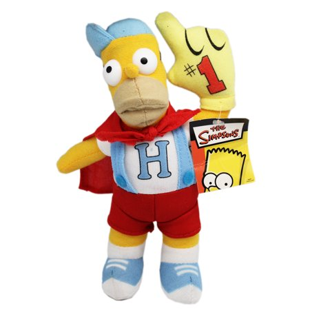 The Simpsons' Homer Simpson Cape and Overalls Superhero Plush Toy (9in)](Superhero Stuff Discount Code)
