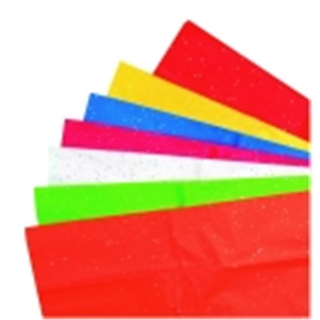 Kolorfast Non-Bleeding Glitter Tissue - 20 x 24 in. - Assorted Color, Pack 14