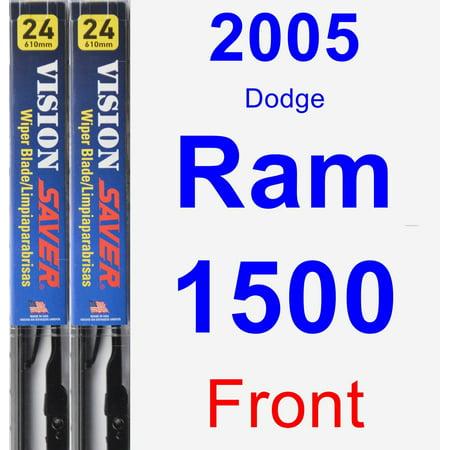 2005 Dodge Ram 1500 Wiper Blade Set/Kit (Front) (2 Blades) - Vision Saver (99 Dodge Ram 1500 Wiper Motor)