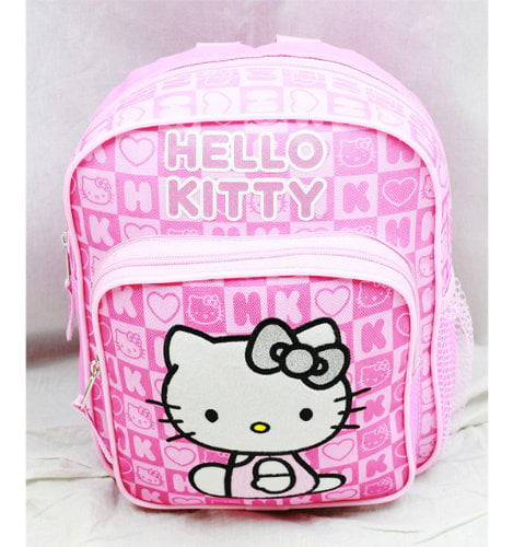 Mini Backpack Hello Kitty Pink Box Checker New School Bag Book Girls 82350 by FAB Starpoint