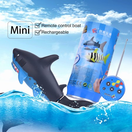 - EECOO Radio Remote-Controlled Toy Soda Can Radio Shark RC Electric Water Kid's Toy