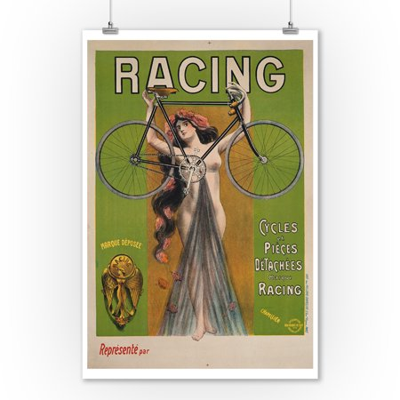 Racing Vintage Poster (artist: Chapellier) France (9x12 Art Print, Wall Decor Travel Poster) - Racing Decor