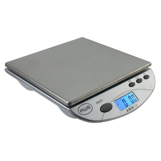 American Weigh Scales Amw 13 Digital Postal Kitchen Scale Silver Amw13sl Walmart Com Walmart Com