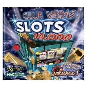 Selectsoft LGCV10MS1J Selectsoft Club Vegas Slots 10,000 Volume 1 - Entertainment Game Jewel Case Retail - Mac, Intel-based