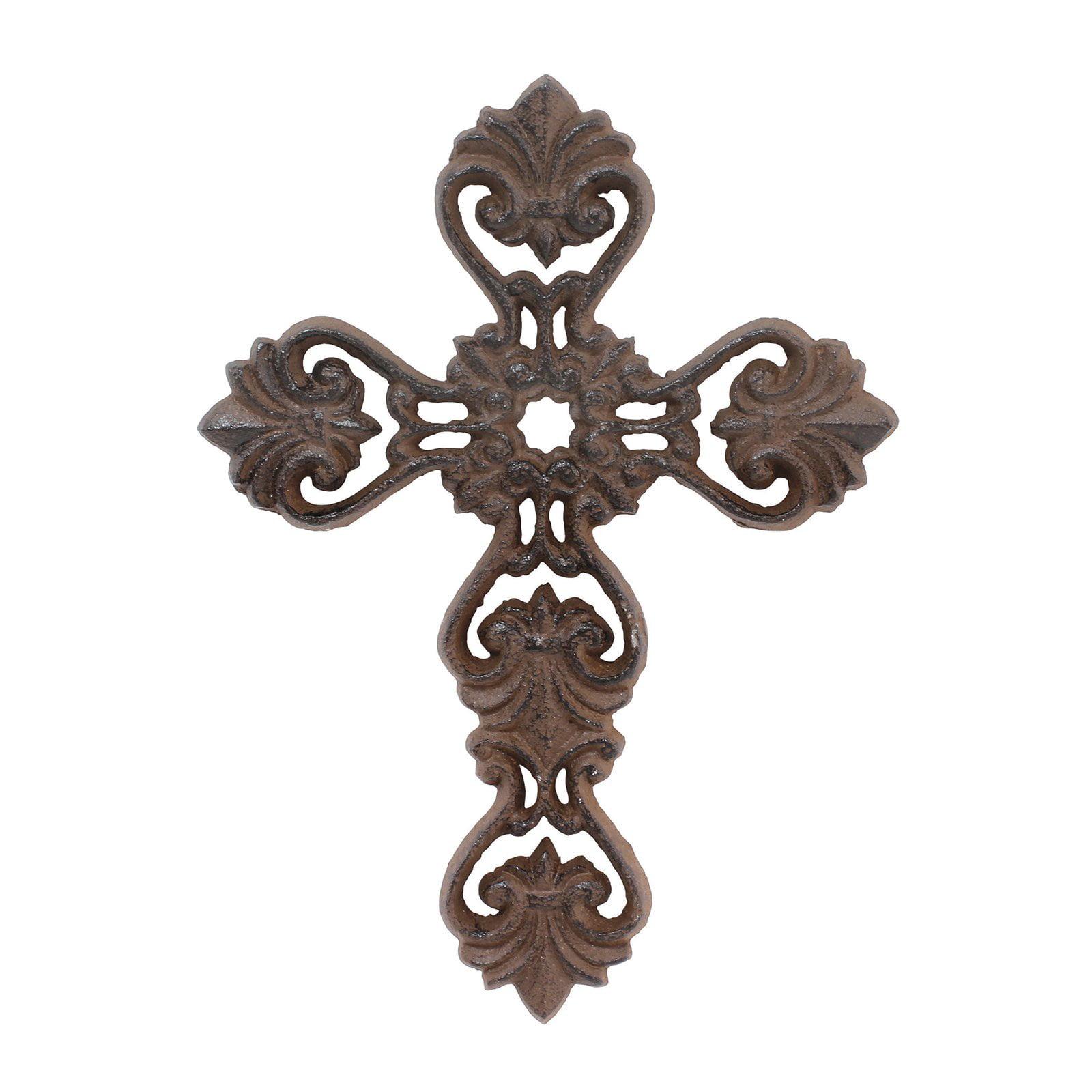 Stonebriar Collection Medium Rustic Ornate Cast Cross