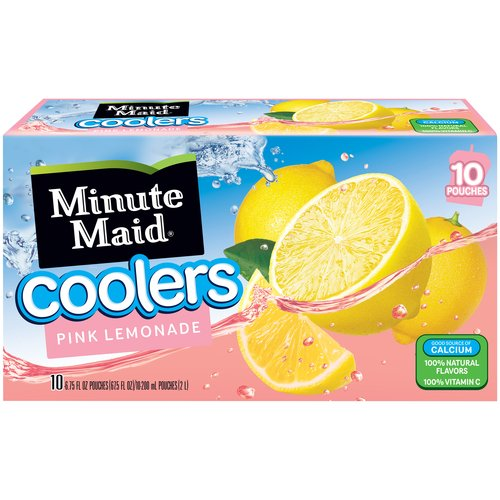 Minute Maid Pink Lemonade Coolers, 6.75 fl oz, 10 count
