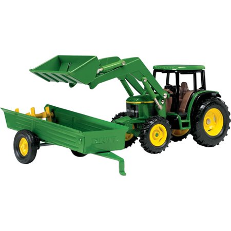 John Deere 1/32 Scale 6210 Tractor with Loader and Manure Spreader