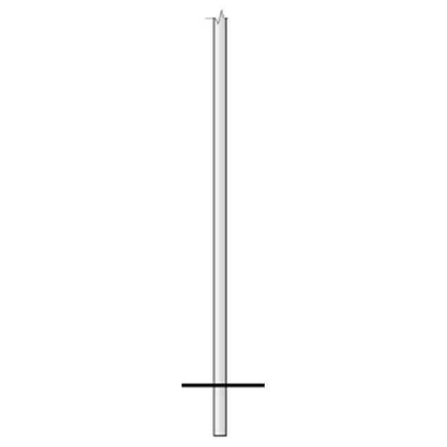 Special Lite Products 390-BAL Smooth Aluminum Direct Burial Post, Brushed Aluminum - image 1 of 1