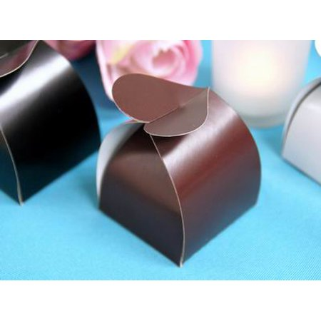 BalsaCircle 100 Favor Boxes with Cute Heart Shaped Closures - Wedding Party Candy Gifts Decorations - Heart Shaped Favor Boxes