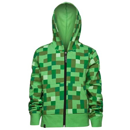 Minecraft Creeper No Face Premium Zip-Up Youth Hoodie](Minecraft Zip Up Hoodie Youth)