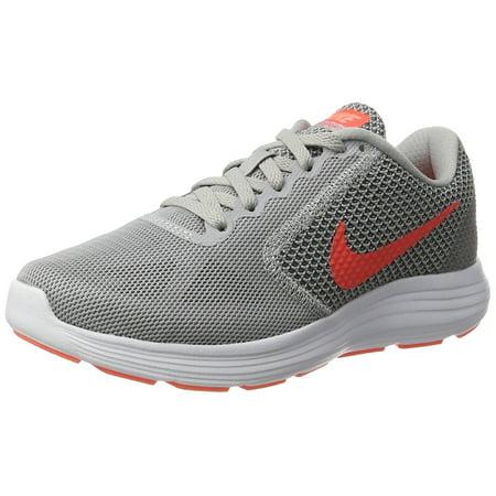 Nike Womens Revolution 3 Running Shoe Wolf Grey/Hyper Orange/CoolGrey