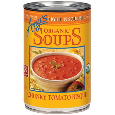Amy's 586 Tomato Bisque Chunky Lite Sodium 12-14.5 Ounce