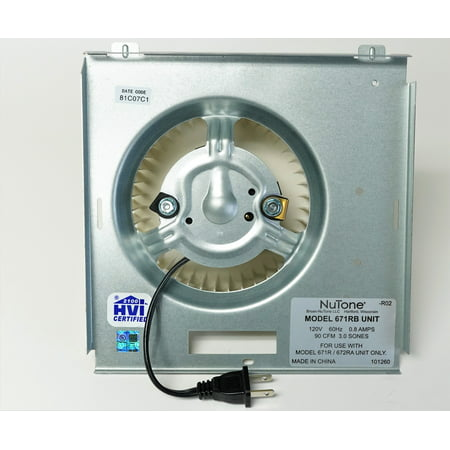 Broan Nutone S97017708 Bath Fan Vent Motor Asm. for 671RB 100600 71731998 (Nutone Model)