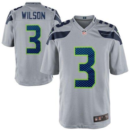 the best attitude b8461 4e0be Russell Wilson Seattle Seahawks Nike Alternate Game Jersey - Gray