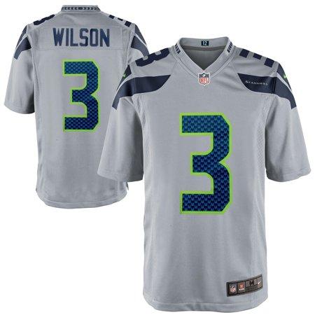 Russell Wilson  Seattle Seahawks Nike Alternate Game Jersey - Gray Wilson V-neck Jersey