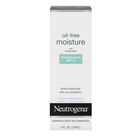 Neutrogena Oil Free Facial Moisturizer SPF 15 Sunscreen & Glycerin, 4 fl. oz