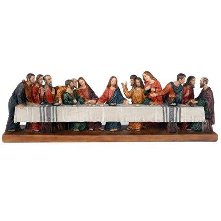 The Last Supper Da Vinci Inspiration Tabeltop Figurine Decorative Gift 12 inch L