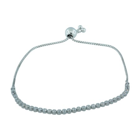 Authentic 590524CZ-2 Sterling Silver Sparkling Strand Bracelet 9.8 Inch (Adjustable)