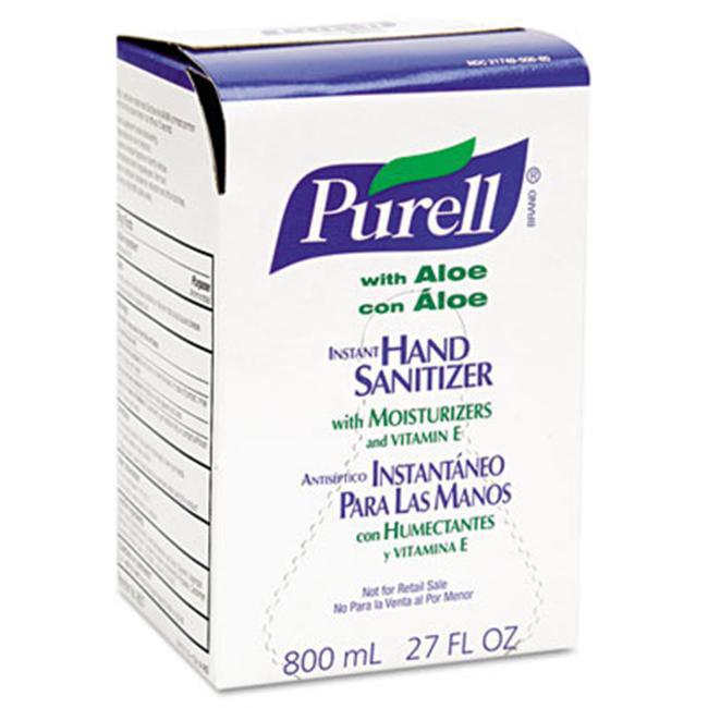Gojo 9637 Instant Hand Sanitizer 800-ml Refill  Aloe  12/Carton