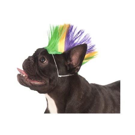 Mardi Gras Pet Punk Rock Spiked Mohawk Dog Cat Costume Wig](Rock Star Dog Costume)
