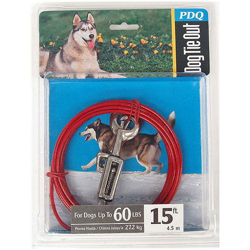 Boss Pet Q3515 SPG 99 15' Large Dog Cable Tie-Out
