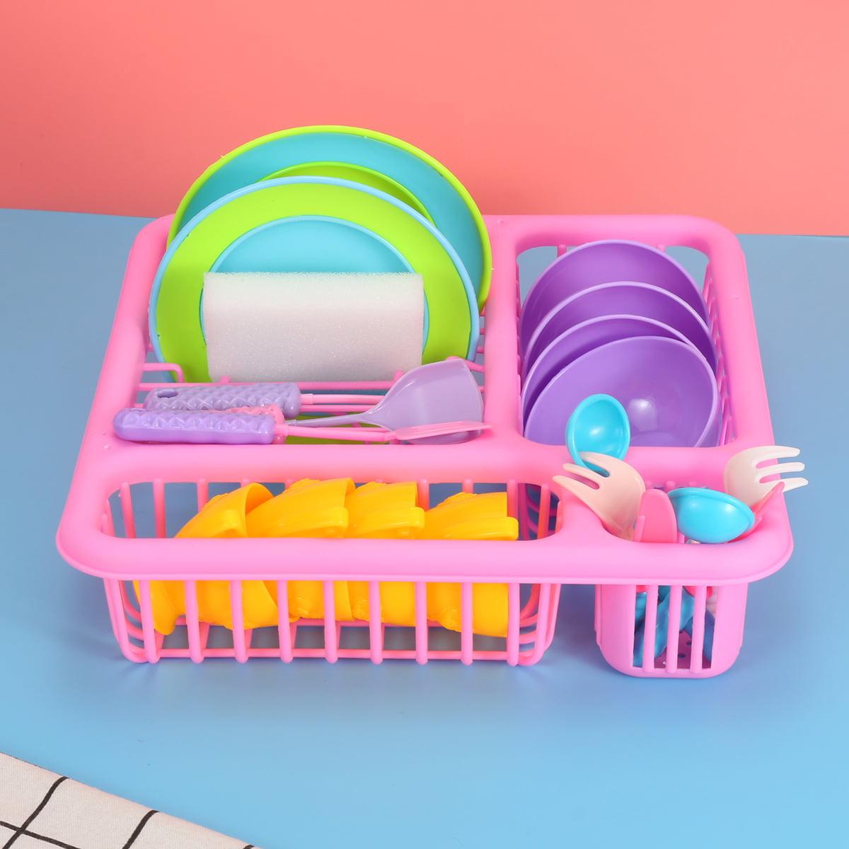 21pcs Kids Pretend Play Dishes Kitchen