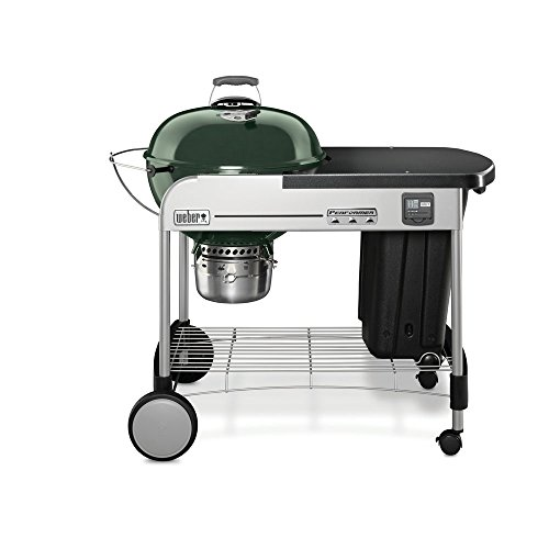 Weber 15407001 Performer Premium Charcoal Grill, 22-Inch, Green by