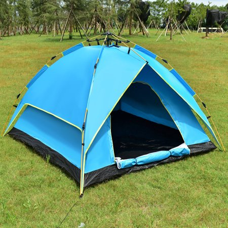 Gymax Waterproof 2-3 Person Camping Tent Hydraulic Automatic Instant Hiking w/ (Best Way To Waterproof A Tent)