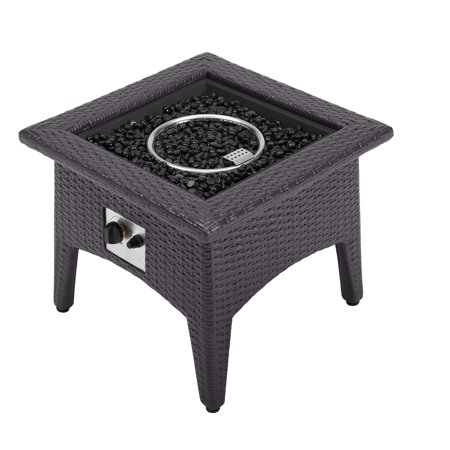 Vivacity Outdoor Patio Fire Pit Table Espresso - Modway