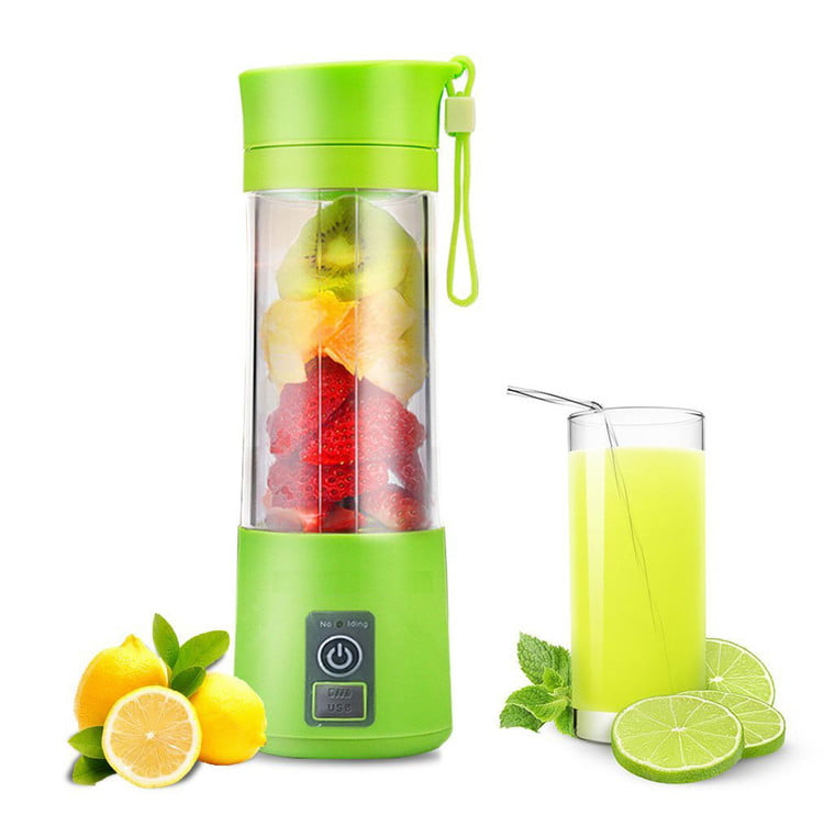 380ML Portable USB Electric Fruit Juicer Cup Rechargeable Blender Citrus Ice Crusher Fruit Vegetable Smoothie... by