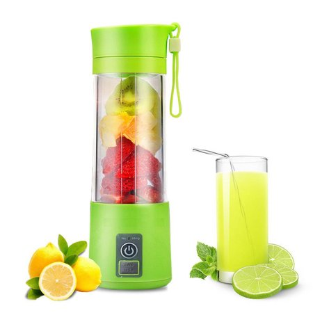 Portable Blender USB Juicer Cup,Juicer Machine 380ml with USB Charger Fruit