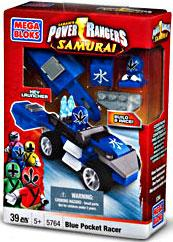 Mega Bloks Power Rangers Samurai Blue Pocket Racer Set #5764 by