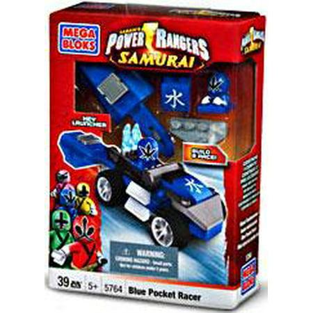 Mega Bloks Power Rangers Samurai Blue Pocket Racer Set #5764 (Blue Power Ranger Samurai)