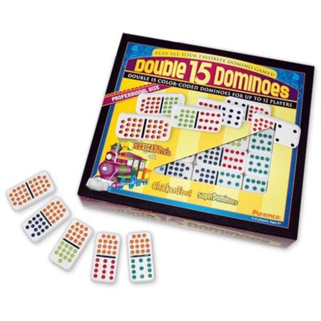 - Professional Colored Dots Double 15 Domino Game