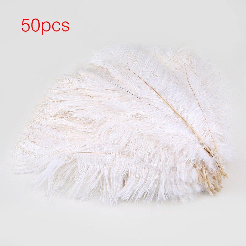 30-35CM Long Ostrich Feathers 50pcs/stet DIY Wedding Party Celebration Feather,White