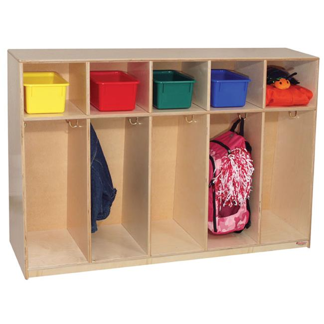 Wood Designs 53680 - Tip-Me-Not 36 Inch High Tot Lockers With Hardboard Back