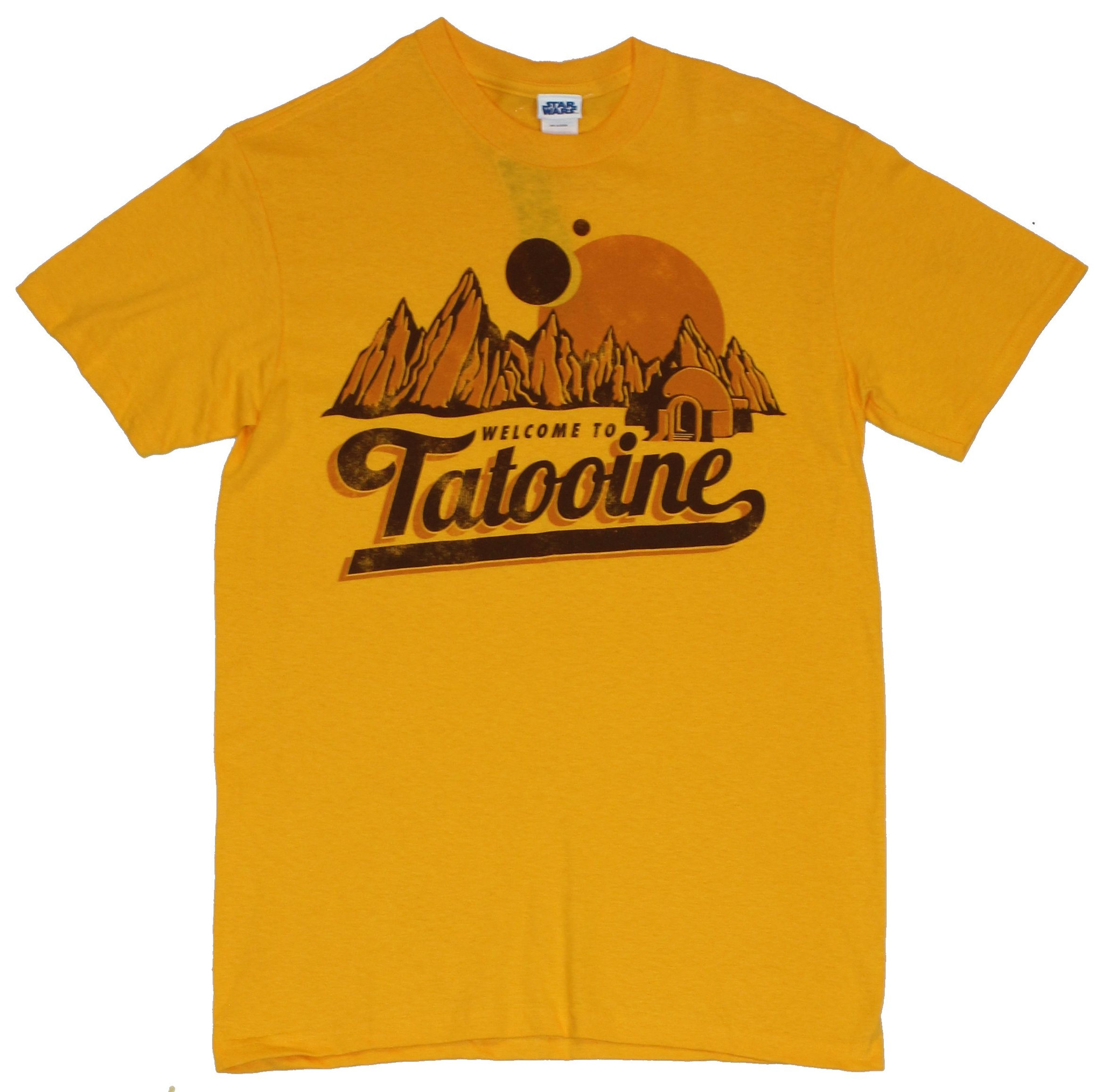Star Wars Mens T-Shirt  - Welcome to Tatooine Distressed Image