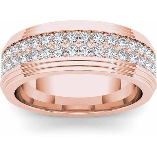 Imperial 1-1/6 Carat T.W. Diamond Men's 14kt Rose Gold Wedding Band